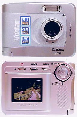 "Vivitar VIVICAM-3750 3.2 Megapixel Pocket Size Digital Camera with 1.5"" LCD Screen"