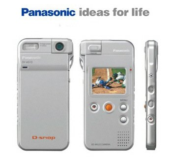Panasonic SV-AS10S D-Snap Super-Slim Digital Camera with Rotating Lens