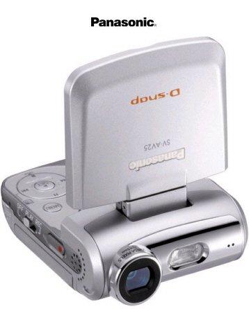 Panasonic SV-AV25 SD Video Camera with Flip-up LCD, MPEG4 Video, Voice Recorder