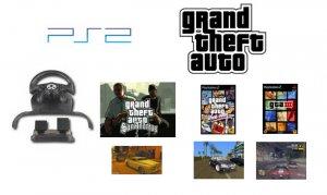 Grand Theft Auto Racing Bundle - 3 Action Packed GTA Games + GTA Steering Wheel