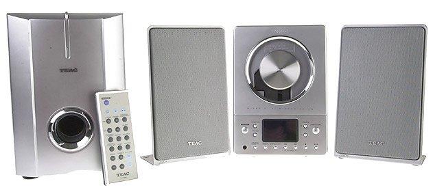 Teac CD-X8 Ultra-Thin Hi-Fi System NX/Powered Subwoofer