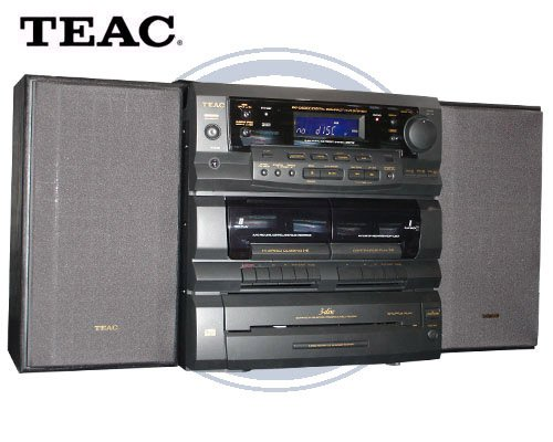 Teac DCD6300 Mini Hi Fi System w/3 Speed Turntable & Dual Cassette Decks