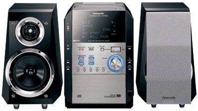 Panasonic SCPM29 140Watts 5-CD Changer CD/Cassette Micro System