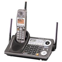 Panasonic KX-TG6500B 2 Line 5.8GHz Cordless Phone System with Digital Answering Machine, expandable