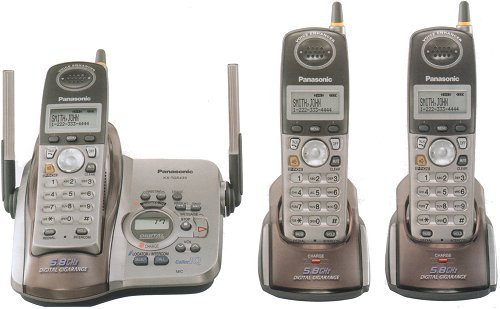 Panasonic KX-TG5433-M 5.8GHz 3 Handset Digital Cordless System