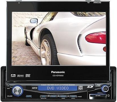 Panasonic CQ-VD7500U DVD/CD/SD receiver with 7 widescreen monitor