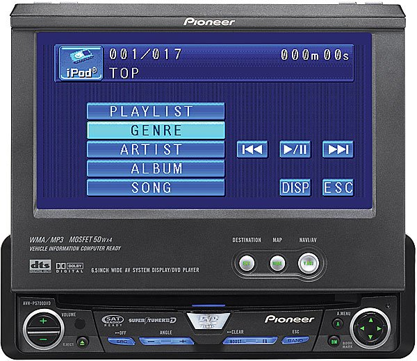 "Pioneer AVH-P5700DVD DVD/CD receiver with 6.5"" LCD Monitor"