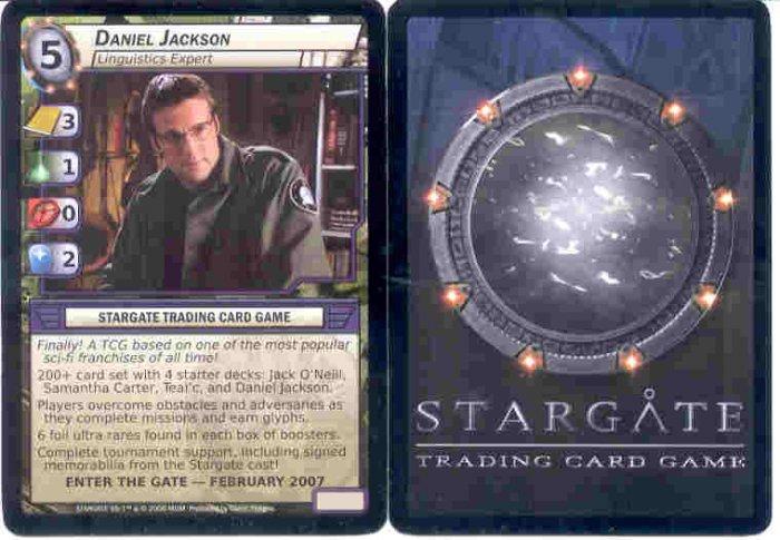 Stargate CCG Daniel Jackson Promo Card