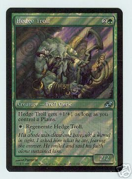 MTG Hedge Troll Foil Planar Chaos Release Card Promo