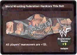 Raw Deal Hardcore Foil Title Belt