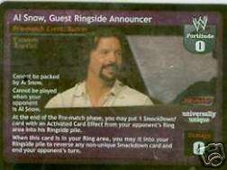 Raw Deal Al Snow Guest Ringside Announcer Foil