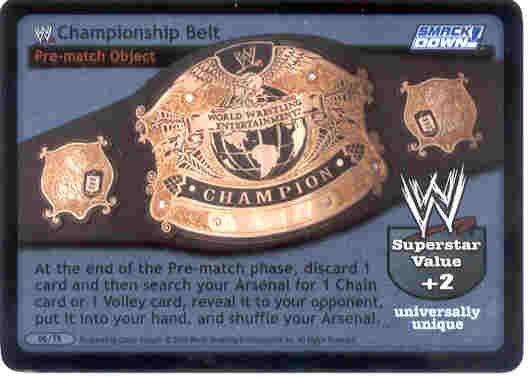 Raw Deal WWE Championship Belt Foil 06/TK