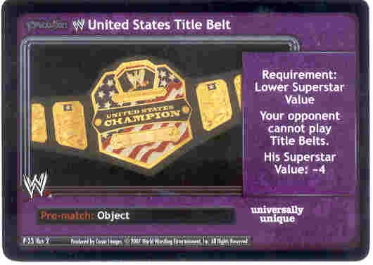 Raw Deal Revolution United States Title Belt Foil P-23