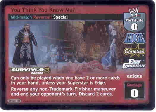 Raw Deal You Think You Know Me? Ultra-rare Foil SS3