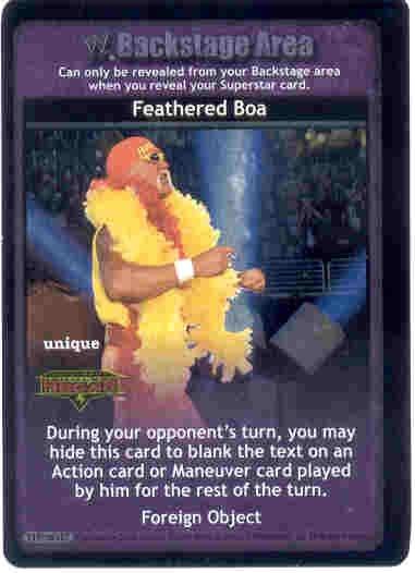 Raw Deal Feathered Boa Ultra-Rare Foil