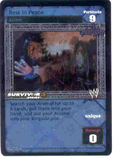 Raw Deal Rest in Peace Ultra-rare Foil SS3