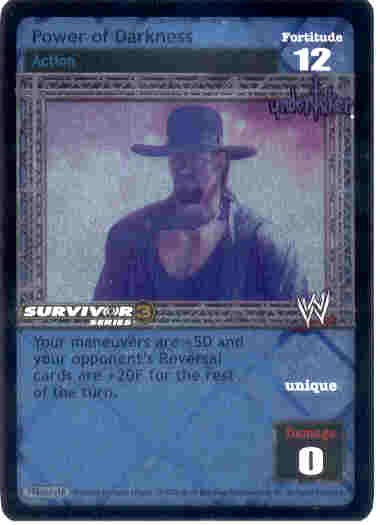 Raw Deal Power of Darkness Ultra-rare Foil SS3