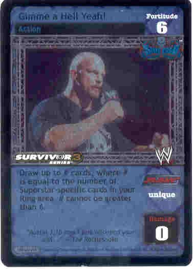 Raw Deal Gimme a Hell Yeah SS3 Ultra-rare Foil