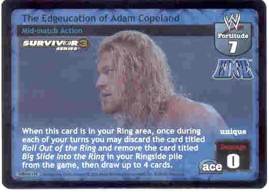 Raw Deal The Edgeucation of Adam Copeland SS3 Foil