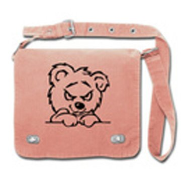 Front Flap Tag Bag teddy pink