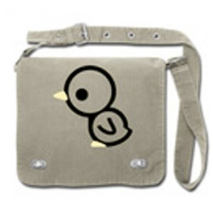 "Front Flap Tag Bag ""Chick"" Charcoal"