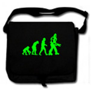 evolution black Messenger Bag