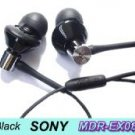 FREE SHIPPING -- Genuine New Earphones SONY MDR-EX082 Headphone Black + extend cord + leather case