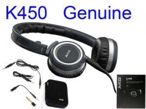 FREE SHIPPING -- New Black AKG K450 HiFi Folding Earphone K 450 Headphone