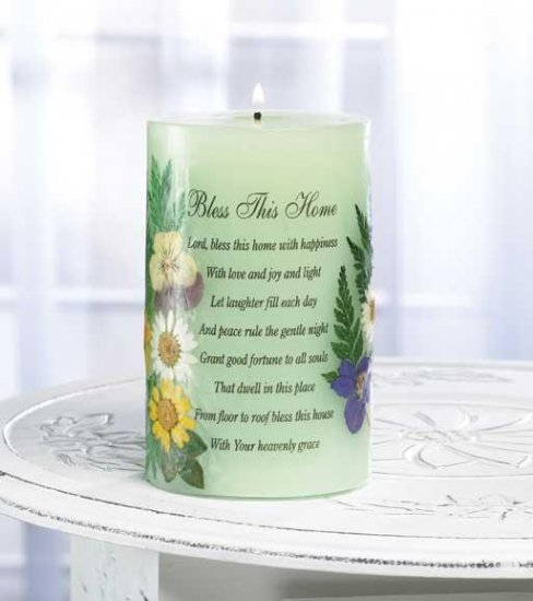 Bless the home candle