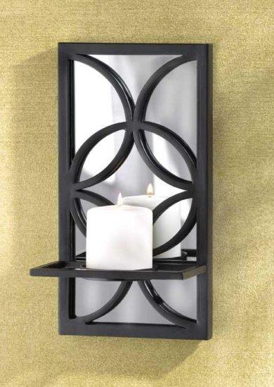 W-Iron mirror Candleholder