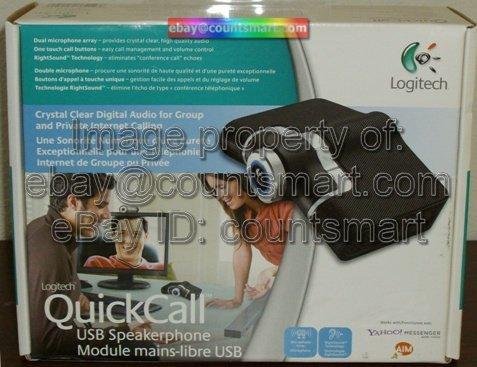 NEW Logitech QuickCam USB Speakerphone VOIP Skype AOL