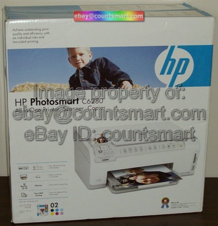 NEW HP PhotoSmart C6280 AIO Printer Copy Scanner +USB