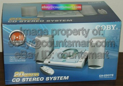 NEW Coby CX-CD376 CD Stereo System AM/FM Tuner 20 Watts
