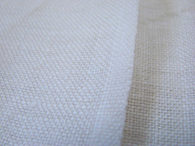 Vintage Linen Fabric Cloth 52 x 84 Unused GC Off White