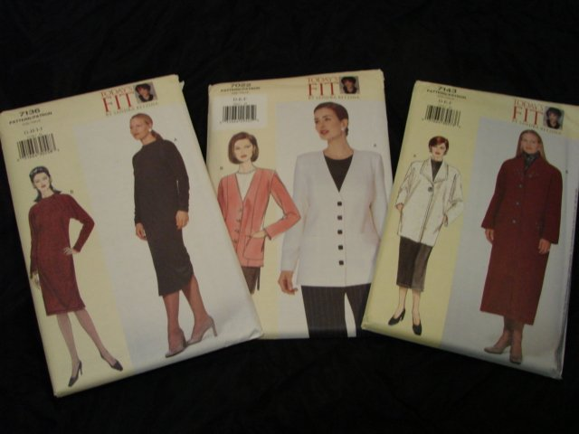 Sewing Patterns SANDRA BETZINA Lot 3 NEW Coat Dress Jacket VOGUE
