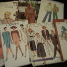 Sewing Patterns 70s 80s Womans LOT 7 Size LARGE