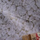 "Vintage 50s Pink & Gold Fabric  Quilt Floral 35"" x 2yd"