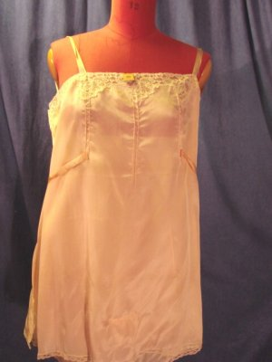 Vintage 20s Lingerie FLAPPER Chemise Step-in SILK TAG L