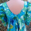 Vintage 50s 60s Dress HAWAIIAN Kamehameha Long Watteau S