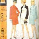 Sewing Pattern Vintage 60s MOD DRESS 1967 B34