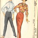 Sewing Pattern Vintage 50s Pants Blouse Slim Skirt B38
