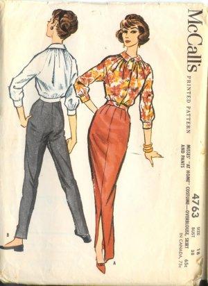 Sewing Pattern Vintage 50s Pants Blouse Slim Skirt B38