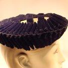 Vintage Hat 40s Black Velvet Woven Rennaisance