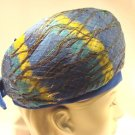 Vintage Hat 60s 50s PEACOCK Bubble Feather Toque