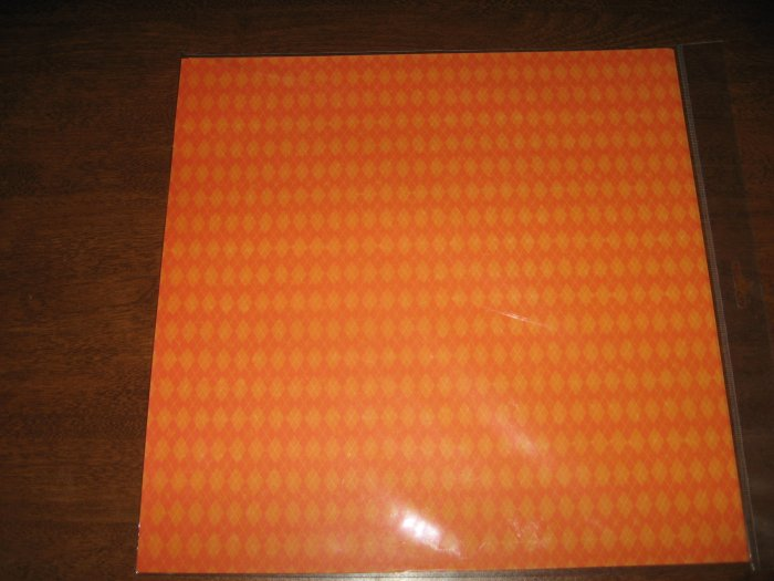 Scrapbook Paper Orange Argyle