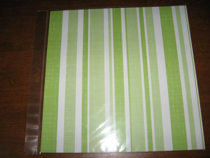 Scrapbook Paper  Lime Strip