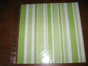 Scrapbook Paper  Lime Strip