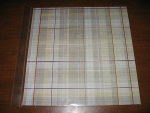 Scrapbook Paper Brown Plaid