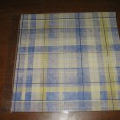 Scrapbook Paper blue plaid