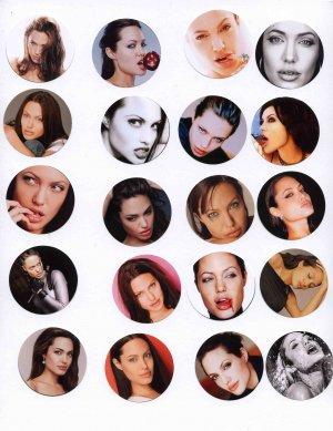Angelina Jolie Stickers - Set of 20